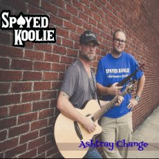 "DISCOUNT COMBO -- Spayed Koolie raglan blue sleeve T-shirt AND ""Ashtray Change"" album"