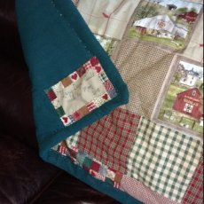 """Lazy Days"" quilt throw"
