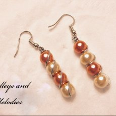 Pink and Ivory Pearl earrings