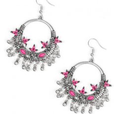 Musical Mantras Pink Earrings