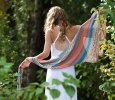 Knitted Cotton Summer Shawl