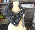Hand Knit Art Yarn Cowl, Hand Knit Cowl, Ribbon Cowl