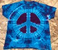 """Raspberry Fields"" Peace Sign Tye Dye"