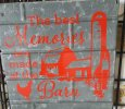 """Reclaimed materials """"signs"""""""