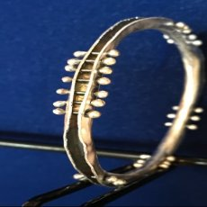 .925 Sterling Silver Wave Bangle Bracelet