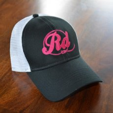 Black and Pink Hat