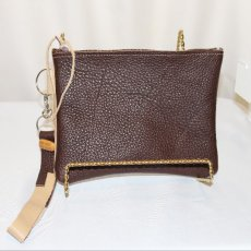 Two Color Leather Wristlet