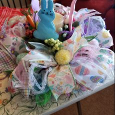 Easter wreath centerpiece with candle holder