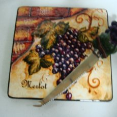 """Merlot"" cheese plate & knife"