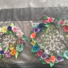 Origami Paper Wreaths