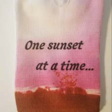 "White No-Show Socks ""One Sunset"""