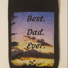 "Men's Black Knit Dress Sock ""Best Dad Ever"""