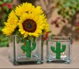 Exquisite Crystal Cactus Candle Holder/Vase