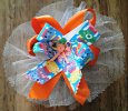 Care Bear Orange Handmade Bow Hair Clip