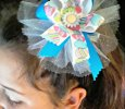 """Easter Egg"" Ribbon Bow on a Hair Clip"