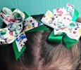 Mario Brothers  Handmade Ribbon Bow, 4 X 3, set of 2