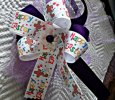 """Happy Easter"" Multi-Color With Purple Handmade Ribbon Bow Headband"