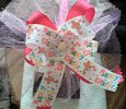 """Happy Easter"" Multi-Color With Dark Pink Handmade Ribbon Bow Headband"