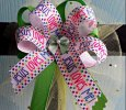 """Jesus Loves Me"" with Green Ribbon Handmade Bow Headband"