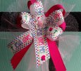 """Jesus Loves Me"" Pink Handmade Bow Headband"