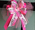 """Reach For The Stars"" on Hot Pink Ribbon Bow on Headband"