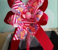 """Strawberry Shortcake"" Red Ribbon Bow on Headband"