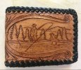 Hand tooled and laced Men's Bi-fold Wallet