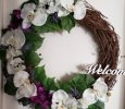 Grapevine Welcome Flower Wreath