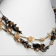Charming Four Strand Freshwater Pearl Necklace