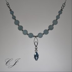 Natural Aquamarine Sterling Silver Jewelry Set