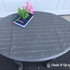 "French ""Love Letters"" Accent Table"
