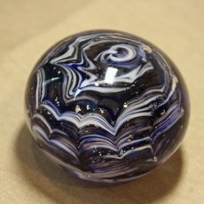 Blue and turquoise paperweight