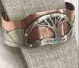 Tree of Life Cuff Bracelet in Mixed Metal