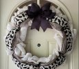 Black Cat Burlap Wreath