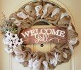 Modern Country Welcome Wreath