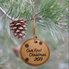 Christmas Ornament - Our First Christmas 2019