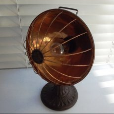 Repurposed Antique Radiant Heater Lamp