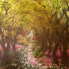 FLOWERED WOODLAND PATH