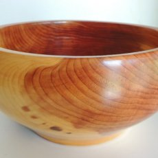 Gloss Rub red cedar bowl
