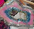 "Eco-epoxy Resin Geode ""the Unicorn"""