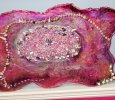 "Eco-Epoxy Resin Geode Wallhanging ""Scarlet"""