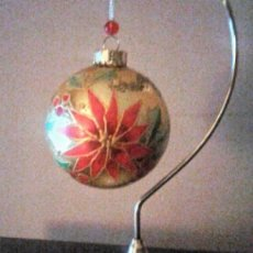 Christmas Poinsetta Glass Ornament