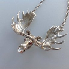 Moose Necklace Sterling Silver