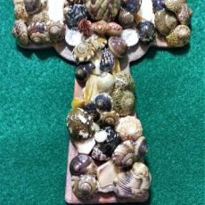 Wood Cross MultiSeashell Design 4x6