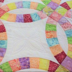 King Size Double Wedding Ring quilt