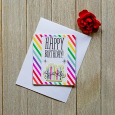 Happy Birthday Sparkle Note card