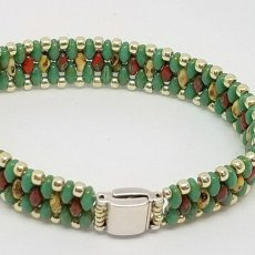 Turquoise Wide Superduo Bracelet