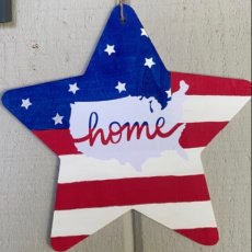 Stars & Stripes wood sign