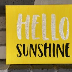 """Hello Sunshine"" stretched canvas wall art"