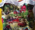 Farm scene shopping bag